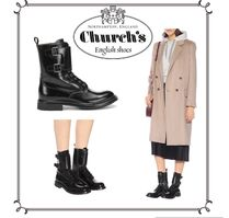 Church's Round Toe Leather Ankle & Booties Boots