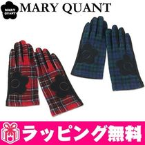 MARY QUANT Tartan Wool Smartphone Use Gloves