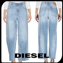 DIESEL Denim Street Style Plain Cotton Long Wide & Flared Jeans