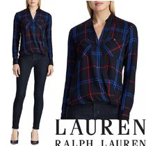 Ralph Lauren Tartan Other Check Patterns Casual Style Long Sleeves
