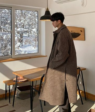 Glen Patterns Long Oversized Coats