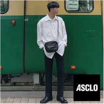 ASCLO Slax Pants Wool Street Style Plain Slacks Pants