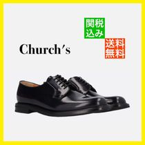 Church's Shannon Plain Toe Round Toe Rubber Sole Casual Style Unisex