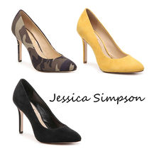 Jessica Simpson Camouflage Plain Pin Heels Party Style Elegant Style