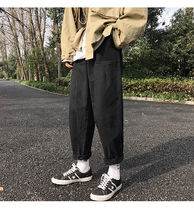 Street Style Plain Cotton Sarouel Pants