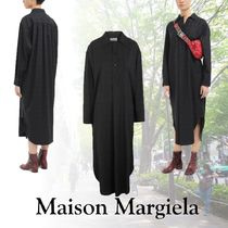 Maison Margiela Other Check Patterns Casual Style Wool Long Sleeves Long