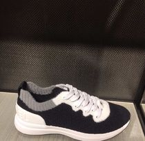 CHANEL Blended Fabrics Plain Sneakers