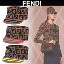 FENDI Stripes Casual Style Blended Fabrics Street Style