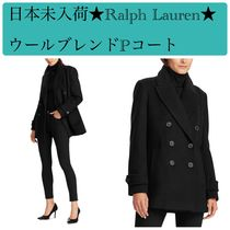 Ralph Lauren Casual Style Wool Plain Medium Elegant Style Peacoats