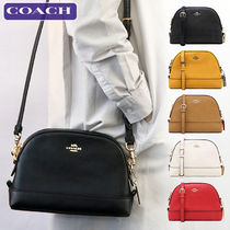 Coach Casual Style Plain Leather Crossbody Shoulder Bags