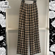 CHANEL Zigzag Tweed Bi-color Long Elegant Style