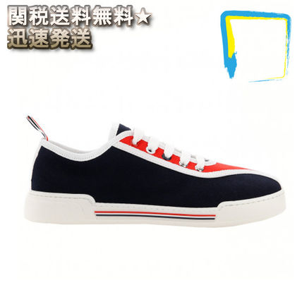 Plain Toe Rubber Sole Casual Style Plain Low-Top Sneakers