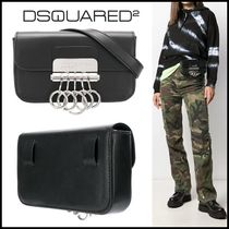 D SQUARED2 Casual Style Unisex Plain Leather Office Style Bags