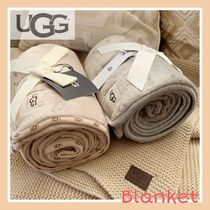 UGG Australia Unisex Blended Fabrics Plain Throws