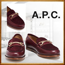 A.P.C. Round Toe Plain Leather Loafer & Moccasin Shoes