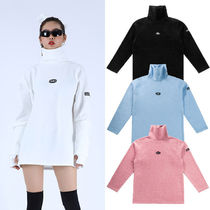 BASIC COTTON Unisex Street Style Long Sleeves Plain Medium Oversized