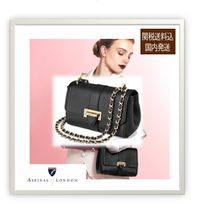 Aspinal of London Casual Style Plain Leather Party Style Elegant Style