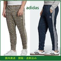 adidas Tapered Pants Printed Pants Tartan Unisex Patterned Pants
