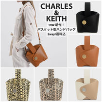 Charles&Keith Casual Style Faux Fur 2WAY Bi-color Plain Party Style Python
