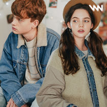 WV PROJECT Unisex Denim Street Style Collaboration Plain Jackets
