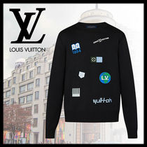 Louis Vuitton Crew Neck Monogram Wool Long Sleeves Long Sleeve T-shirt
