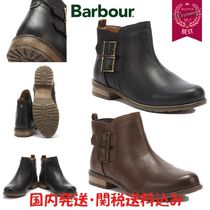 Barbour Round Toe Rubber Sole Casual Style Street Style Plain