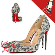 Christian Louboutin Leopard Patterns Pin Heels Pointed Toe Pumps & Mules