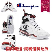 CHAMPION Blended Fabrics Street Style Leather Sneakers