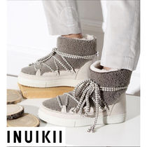 INUIKII Other Check Patterns Platform Lace-up Casual Style Unisex