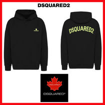 D SQUARED2 Unisex Street Style Long Sleeves Plain Oversized Hoodies