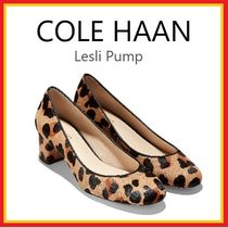 Cole Haan Leopard Patterns Round Toe Casual Style Spawn Skin