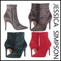 Jessica Simpson Suede Plain Pin Heels Party Style Elegant Style