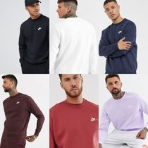 Nike Crew Neck Pullovers Sweat Blended Fabrics Street Style