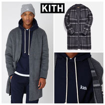 KITH NYC Other Check Patterns Wool Street Style Plain Long Coats