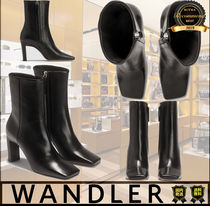 WANDLER Casual Style Unisex Street Style Plain Boots Boots