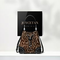 Michael Kors MERCER GALLERY Leopard Patterns Casual Style Calfskin Collaboration 2WAY
