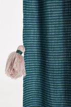 Anthropologie Stripes Tassel Co-ord Curtains