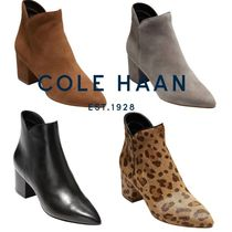 Cole Haan Leopard Patterns Plain Toe Casual Style Suede Spawn Skin