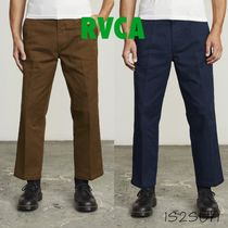 RVCA Street Style Collaboration Plain Cotton Cropped Pants