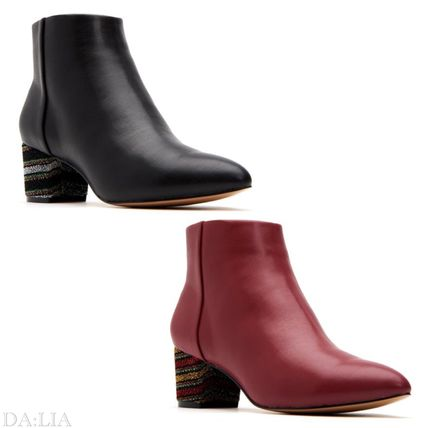 Casual Style Plain Party Style Elegant Style Mid Heel Boots