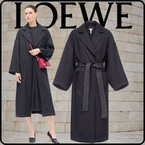 LOEWE Casual Style Wool Cashmere Nylon Collaboration Bi-color