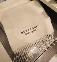 Burberry Cashmere Knit & Fur Scarves