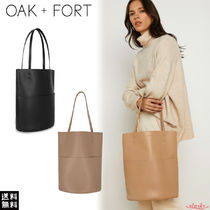 OAK + FORT Casual Style Faux Fur Plain Office Style Totes