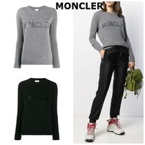 MONCLER Crew Neck Wool Cashmere Long Sleeves Medium Cashmere