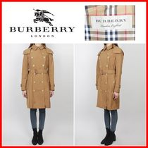Burberry Other Check Patterns Casual Style Trench Coats