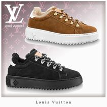 Louis Vuitton Casual Style Unisex Bi-color Leather Shearling Logo