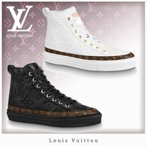 Louis Vuitton MONOGRAM Monogram Casual Style Unisex Leather Logo Low-Top Sneakers