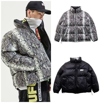 Street Style Other Animal Patterns Oversized Down Jackets