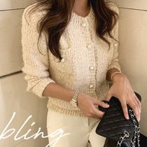 Short Long Sleeves Plain Elegant Style Cropped
