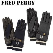 FRED PERRY Leather Leather & Faux Leather Gloves